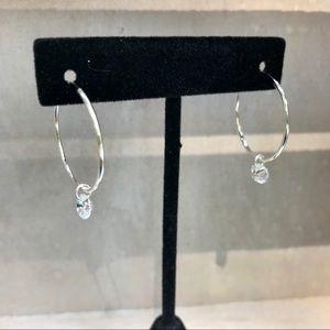Jewelry - Small endless hoop earrings cubic zirconia drop